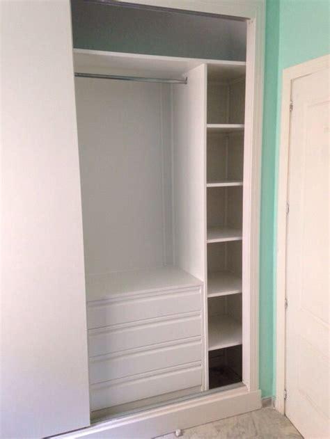 empotrar armario ikea forrado armario empotrado en blanco cajonera postformada