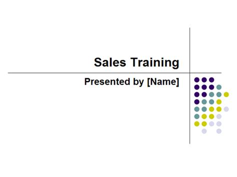 sales training template powerpoint sales training