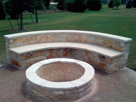fire pit bench seating outdoor fire pit with stone seating benches rustic wall