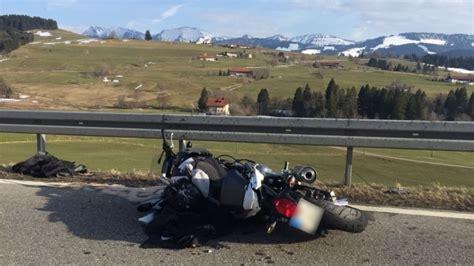 Motorradunfall Oberstaufen by Motorradunfall Auf Der B308 Bei Oberstaufen