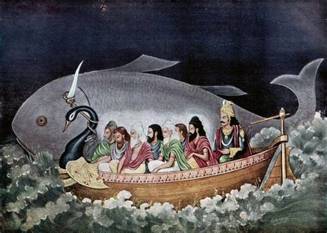 startling similarity between hindu flood legend of manu