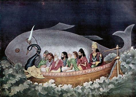 startling similarity between hindu flood legend of manu