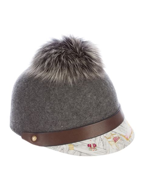 Swash Hat by Swash Fox Fur Trimmed Felt Hat Accessories
