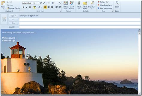 background themes for outlook outlook 2010 add background image in mail compose window