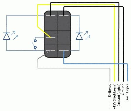 led rocker switch wiring diagram 32 wiring diagram