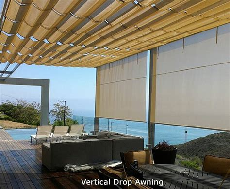 awnings of distinction drop shades in van nuys