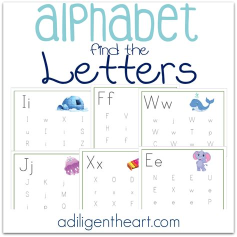 Find Free Alphabet Find The Letters A Diligent