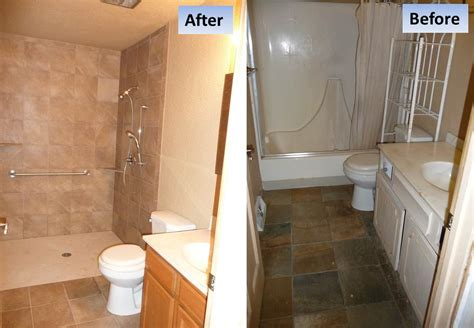 handicap bathtub shower curbless shower tub conversion for a handicap shower in