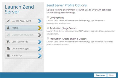 zend framework 2 enable layout step 2 launching zend server