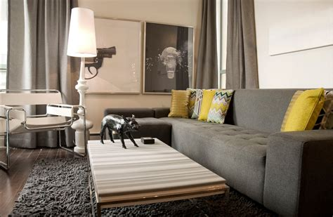 modern decor gray couch walls  decorate