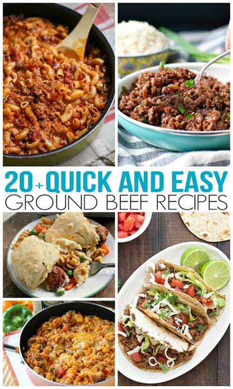 quick  easy ground beef recipes