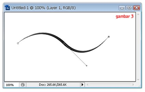 cara membuat garis melengkung di photoshop cs 3 indophotoshop cara menggunakan pen tool photoshop