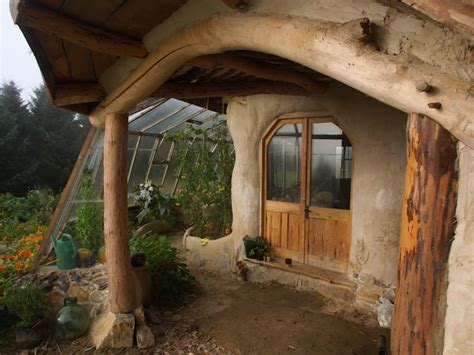 cob house porch and green house cob houses