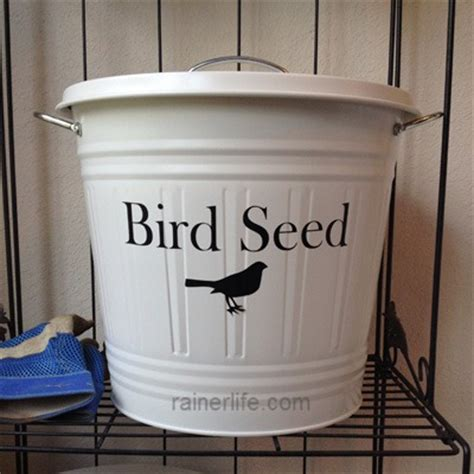 bird seed storage box garden sculptures list of dog food
