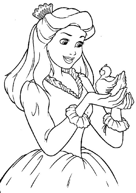 Coloring Pages Of Princesses disney princess coloring pages free printable pictures