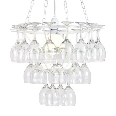 How To Make A Wine Glass Chandelier 3 Tier Wine Glass Chandelier White From Litecraft