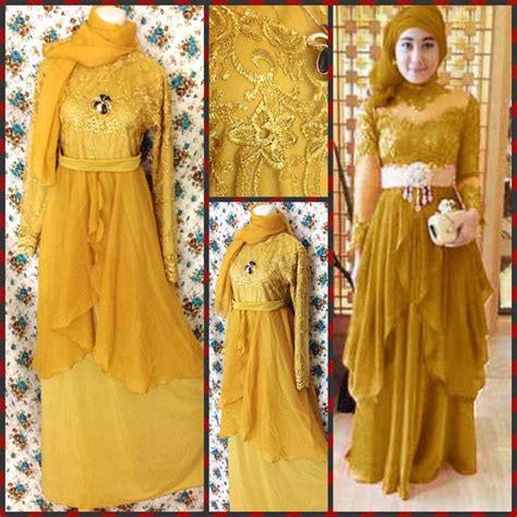 Lg Dress Natushadress Brukat jual busana muslim maxi kebaya pink biru merah grey gaun gown dress abaya klip kosmetik