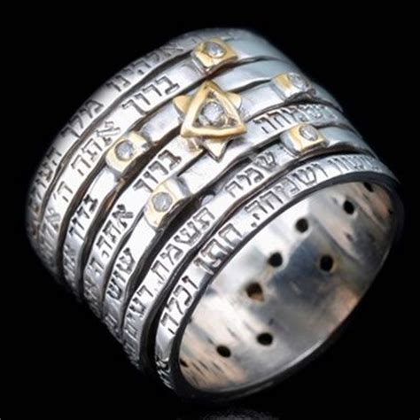 Seven Wedding Blessings by Seven Blessings Spinner Silver Ring By Haari