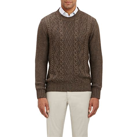 brown cable knit sweater inis me 225 in cable knit sweater in brown for lyst
