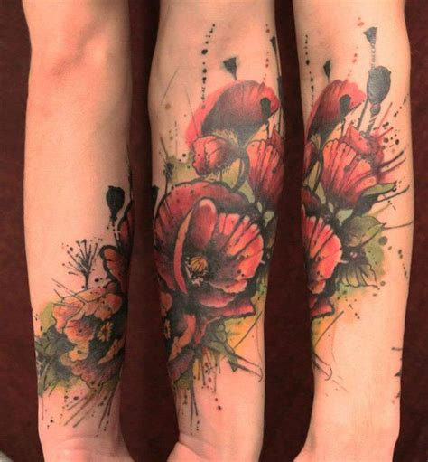Tattos Am Arm 5894 by Best 25 Watercolor Poppy Ideas On