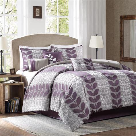 colormate comforter set colormate 7 piece purple multicolor nia woven bed