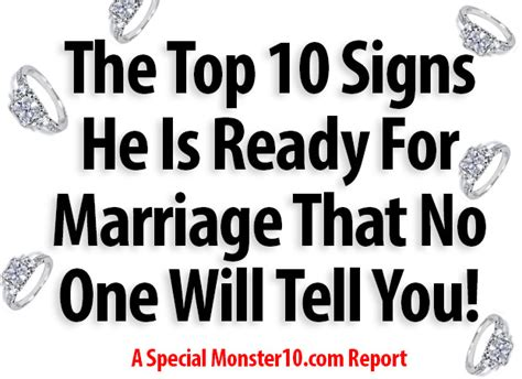 10 Signs He Is Married the top 10 signs he is ready for marriage that no one will