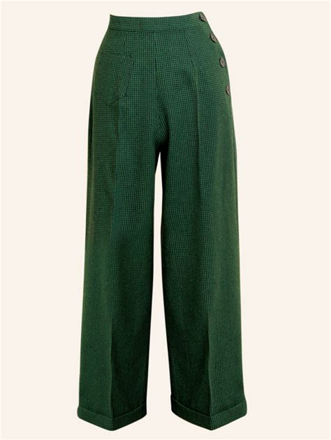 swing 1940s 1940s swing trousers dogtooth green from vivien of holloway