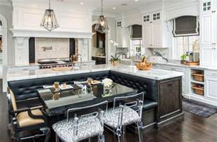 Black And White Kitchens Ideas beautiful kitchen islands with bench seating designing idea