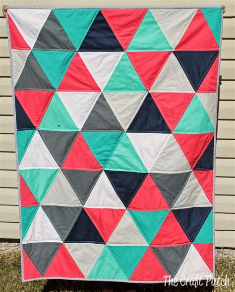 the craft patch modern triangle baby quilt