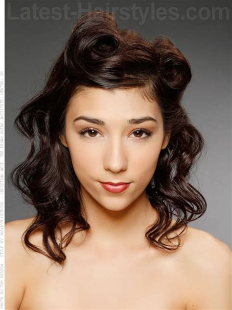 graduation hairstyles philippines modern hairstyle with victory rolls and waves prom hair