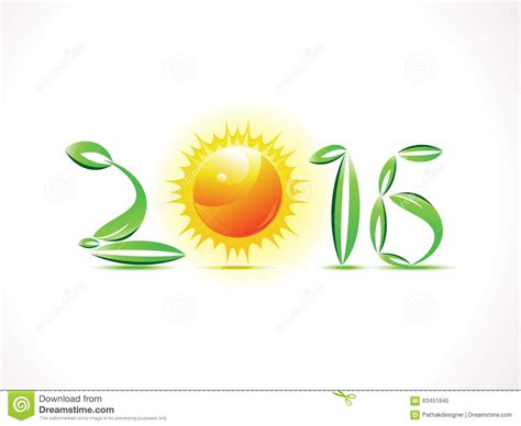 new year is based on abstract eco based new year text stock vector image