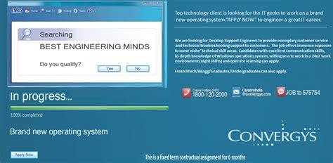 convergys desktop engineer freshers recruitment