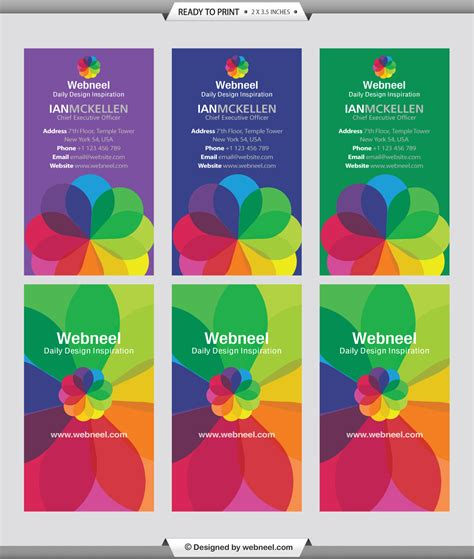 Colorful Business Card Template by 10 Colorful Business Card Template Freedownload Printing