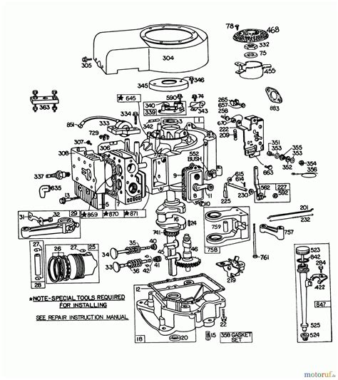 parts diagram for briggs stratton engine 8 hp briggs and stratton engine diagram 8 hp briggs and