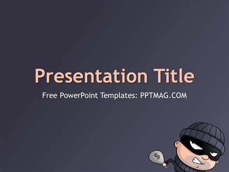free thief powerpoint template pptmag