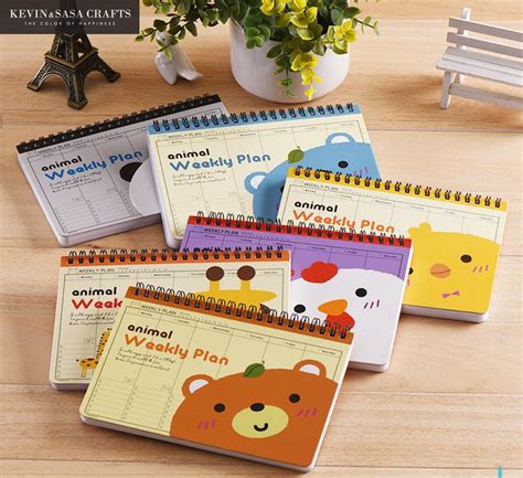 8 Adorable Stationery Kits by Weekly Planner Animal 2017 Notebook Diary Day Planner