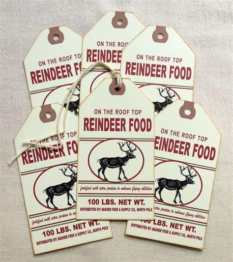 reindeer food printable gift tags hang tags primitive reindeer food christmas feedsack tags