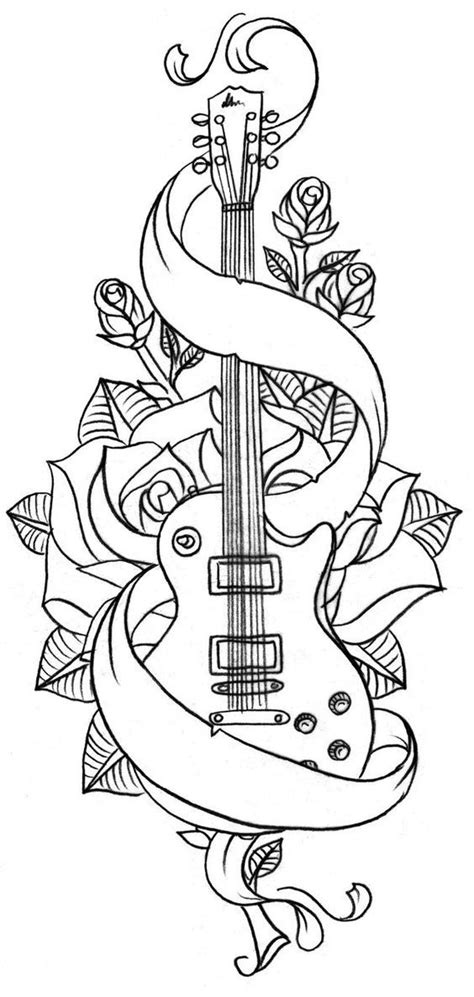 spanish guitar coloring page adult coloring book pagesmore pins like this at