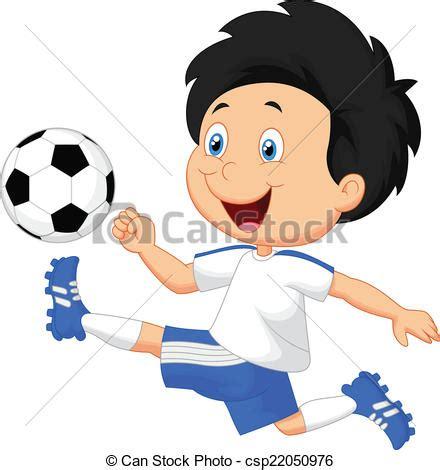 imagenes de niños jugando futbol en caricatura ilustraciones vectoriales de caricatura ni 241 o juego
