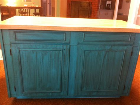 distressed island kitchen teal turquoise island kitchen distressed our house is a