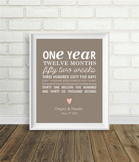 one year anniversary by pelletiercreative on etsy 8 00 gift ideas it one