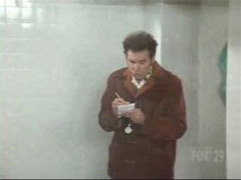 Kramer Shower by Seinfeld Kramer Takes Shower Notes At Ymca