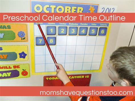 Calendar Time Calendar Time Preschool Questions