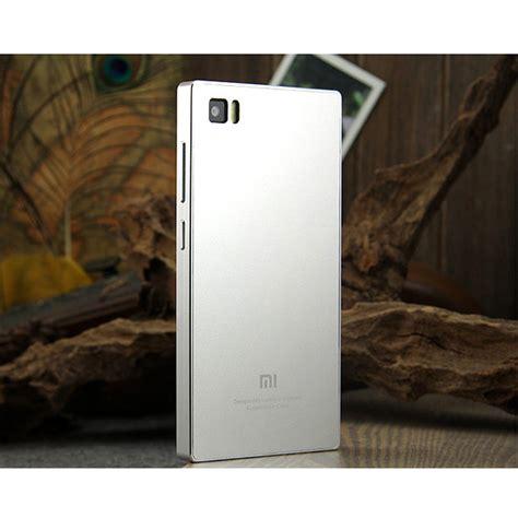Hardcase Spigen Xiaomi Mi3 Silver aluminum metal back cover for xiaomi3 mi3