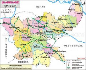 Jharkhand by River Map Jharkhand