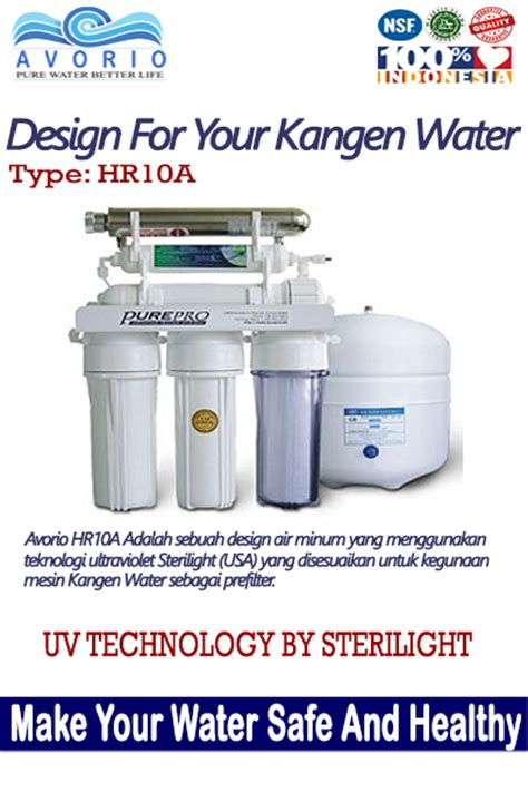 Tipe Dan Mesin Kangen Water mesin prefilter untuk kangen water