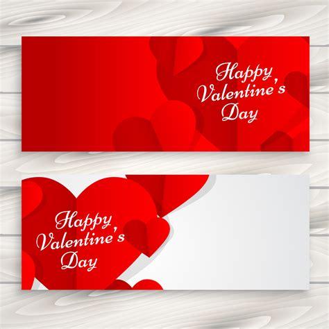 design banner valentine happy valentines day love banners vector design
