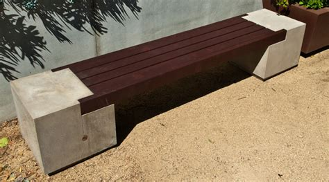 diy concrete bench rhomba bench concrete exchange