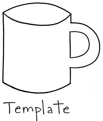 Hot Chocolate Opinion Writings Use This Template For Construction Paper Preschool Christmas Chocolate Cup Template