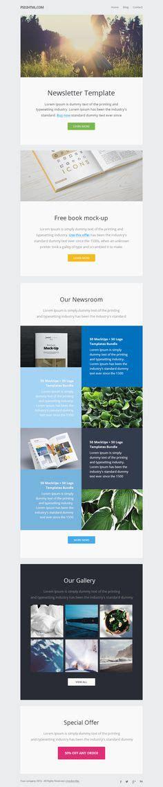 layout newsletter responsive modern e newsletter template design html coded mailchimp